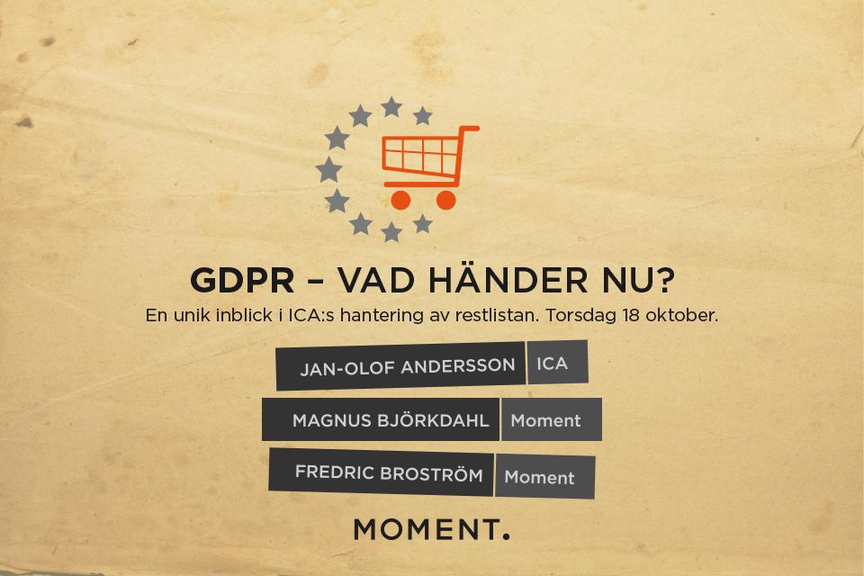 GDPR - vad händer nu?