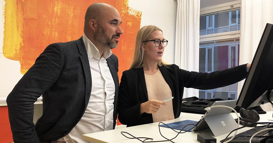 Zoran Stojcevski och Malin Ödman Eriksson