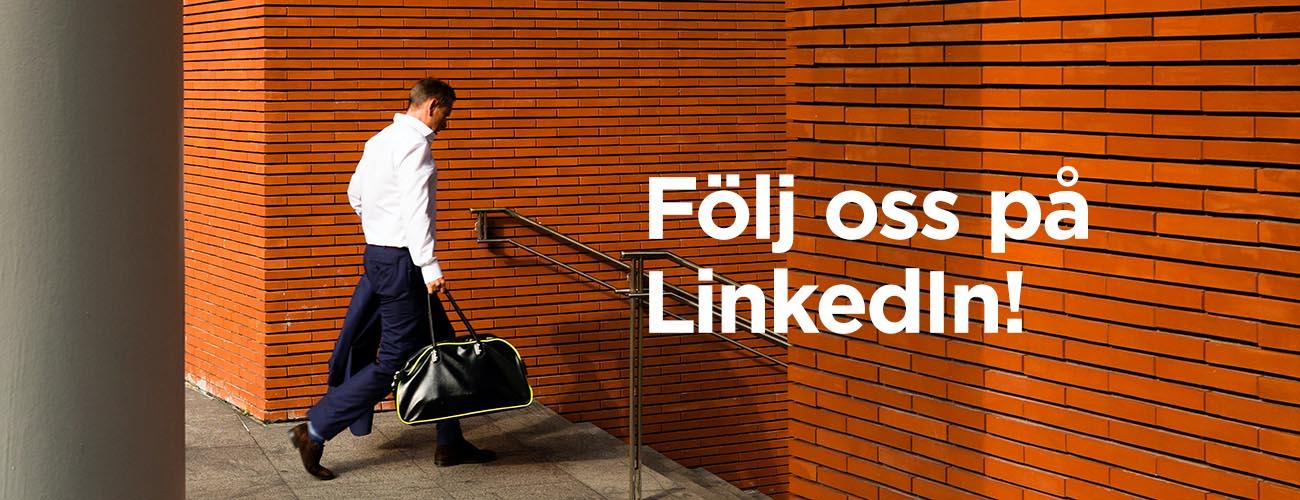 Följ oss på LinkedIn